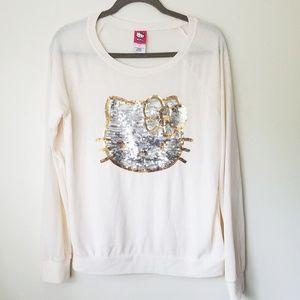Hello Kitty Sequin Cream Sweater - 11/13 (Girls)